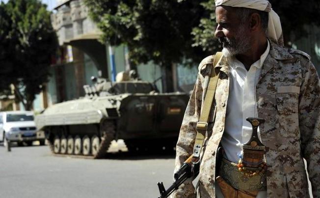 Rebeli Houthi în Saana, Yemen
