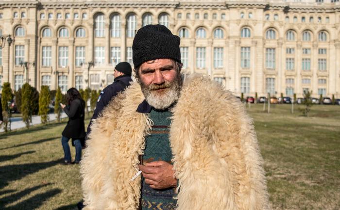 Protestul ciobanilor din faţa Parlamentului