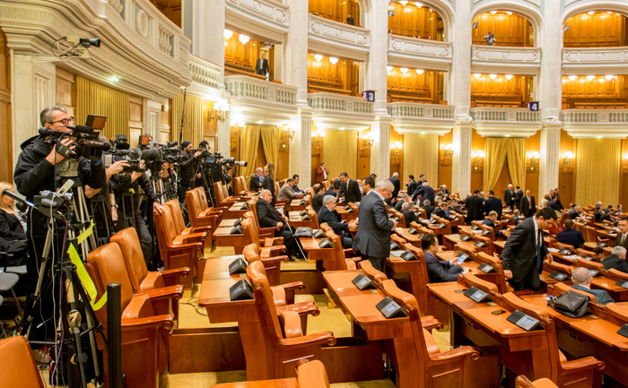 Cameramani în Parlament la votarea bugetului pe 2016, 16 decembrie 2016