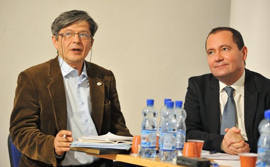 Florian Mihalcea, preşedintele Societăţii Timişoara, la Conferinţa prezentării Platformei Memoriei şi Conştiinţei Europene, 19 decembrie 2015