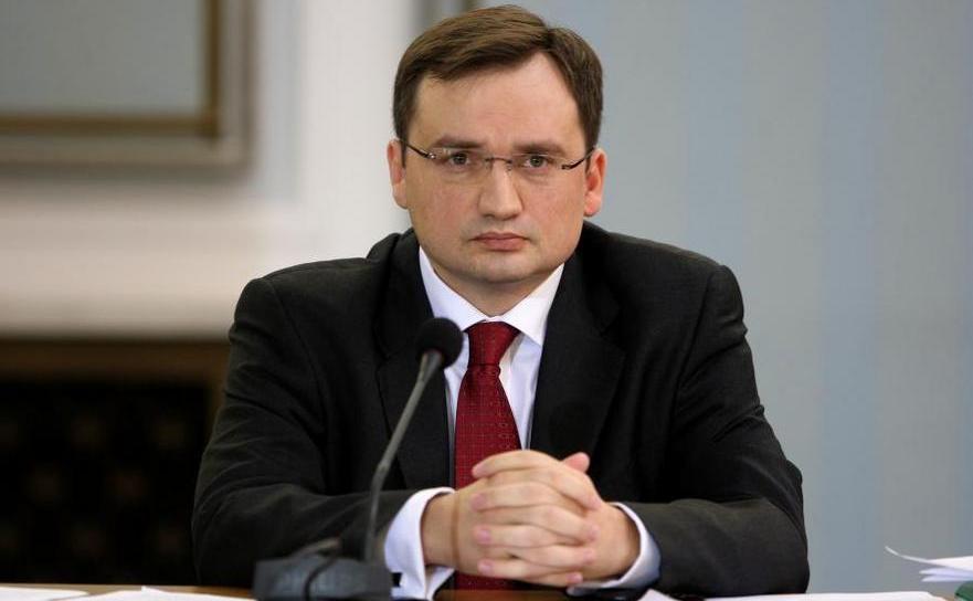 Ministrul polonez al justiţiei Zbigniew Ziobro.