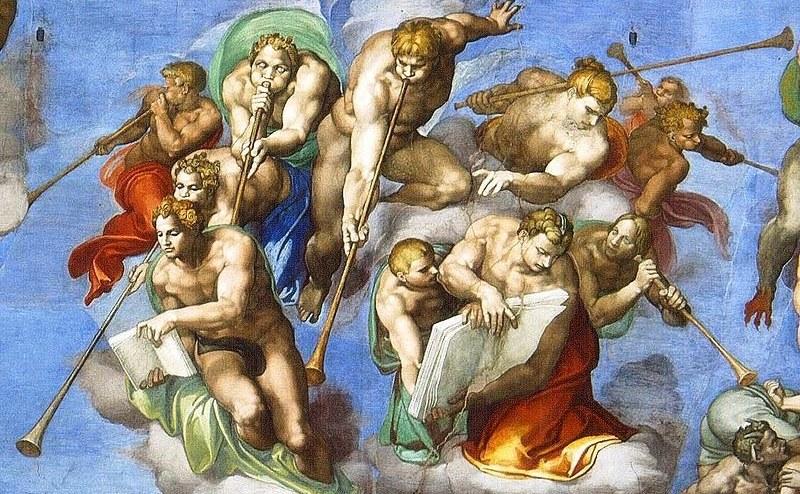 Cei 11 îngeri care anunţă, cu goarne, Judecata de Apoi. Vatican
