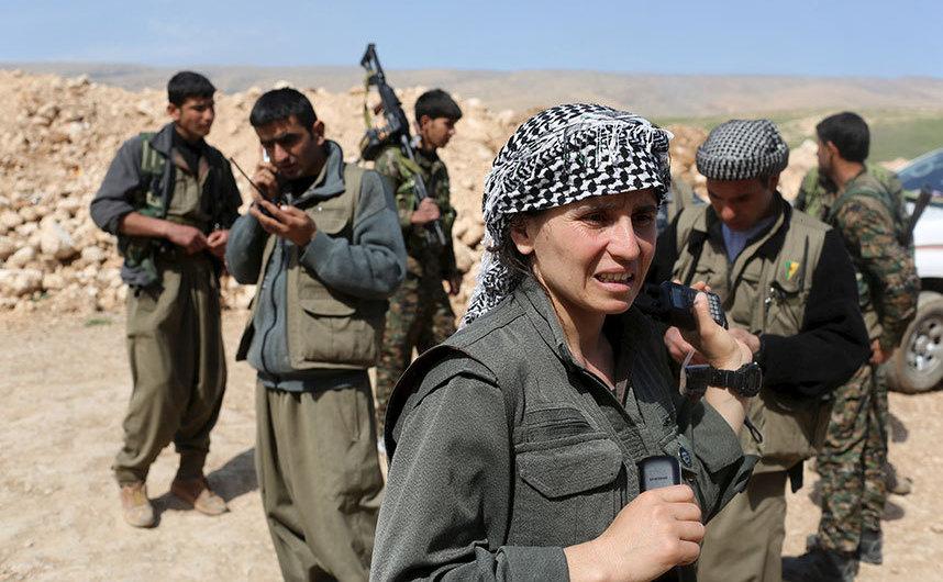 Luptători PKK în Sinjar, Irak.