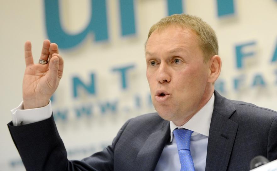Fost ofiţer KGB, FSB, acum parlamentar, Andrei Lugovoi, la o conferinţă de presă în Moscova, 12 martie 2013. Lugovoi este principalul suspect în cazul Litvinenko, pe care Rusia refuză să îl extrădeze în Marea Britanie