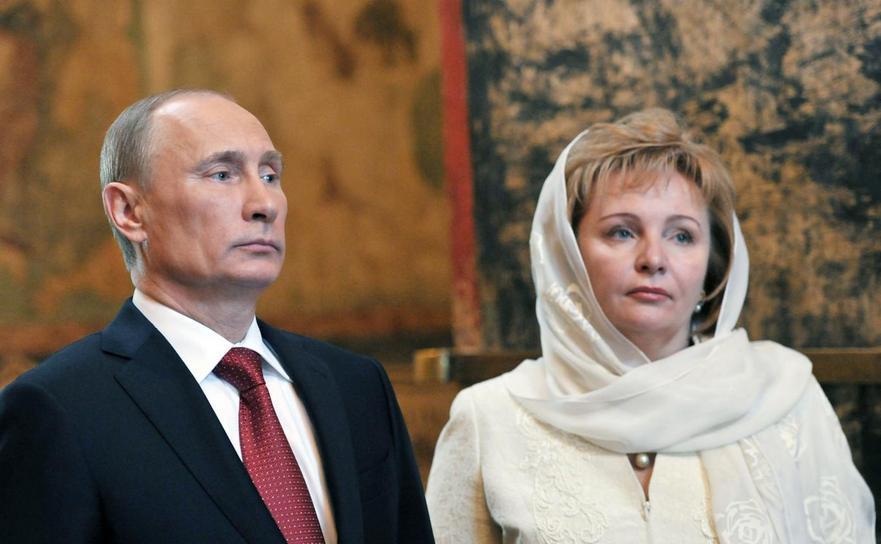 Preşedintele rus Vladimir Putin şi fosta sa soţie, Liudmila.