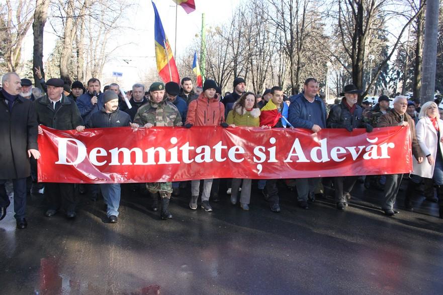 Protest organizat de Platforma DA