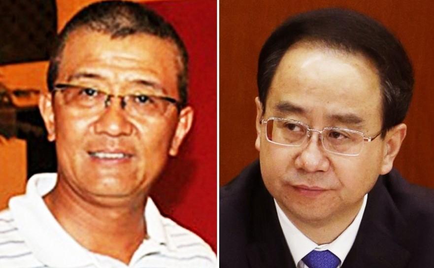 Omul de afaceri chinez Ling Wancheng (st) şi fratele său Ling Jihua, fostul şef de stat major sub preşedintele chinez Hu Jintao.