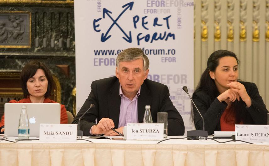 Ion Sturza, Maia Sandu şi Laura Ştefan