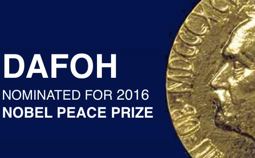 DAFOH a fost nominalizat pentru Premiul Nobel pentru Pace 2016