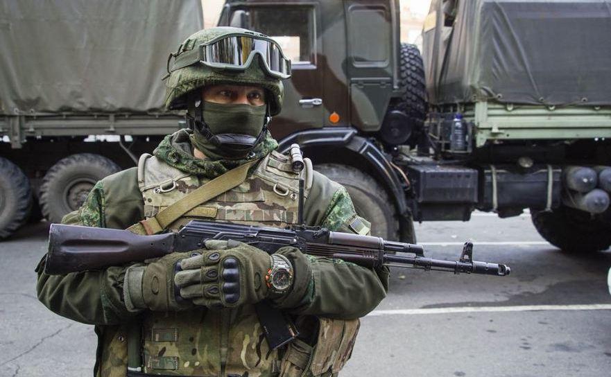Rebel separatist în Doneţk, estul Ucrainei, 29 octombrie 2015.