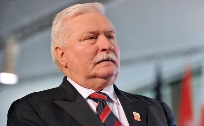 Fostul lider al mişcării anticomuniste poloneze Solidaritatea, Lech Walesa.
