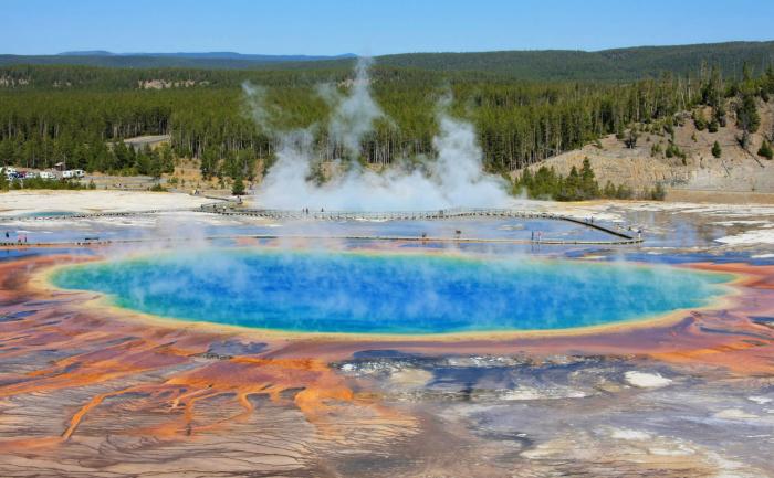 Izvoarele termale din Parcul Naţional Yellowstone, Statele Unite ale Americii