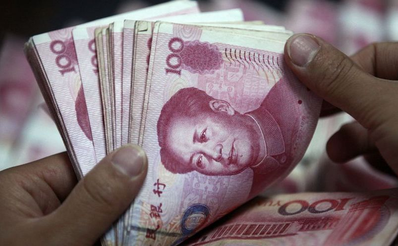 Bancnote de 100 de yuani.