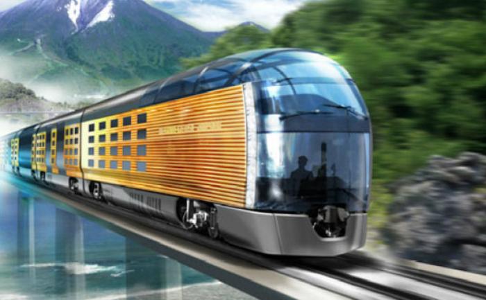 Noul Tren de croazieră japonez proiectat de către designerul Ken Okuyama