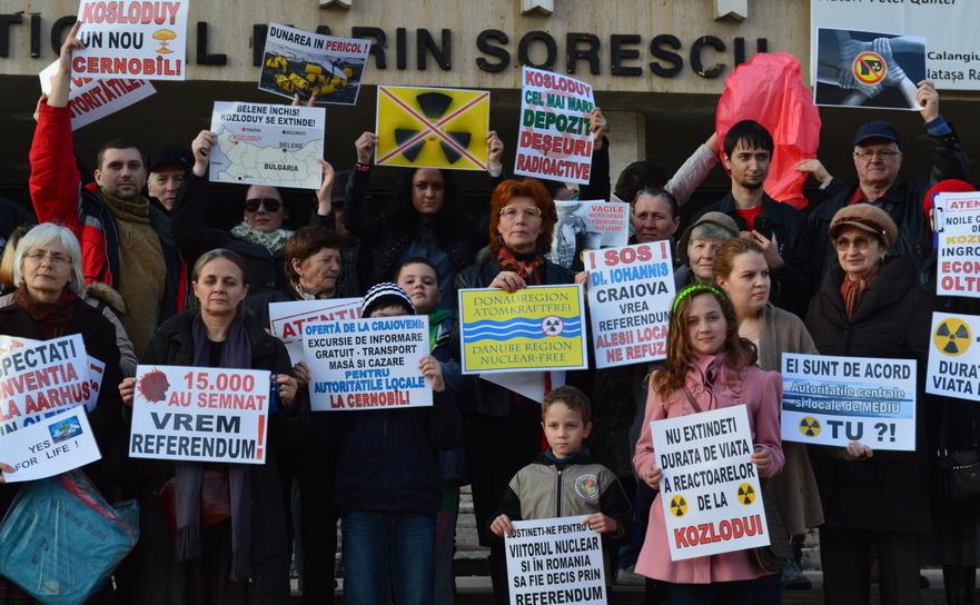 Miting de protest antinuclear la Craiova, 5 martie 2016
