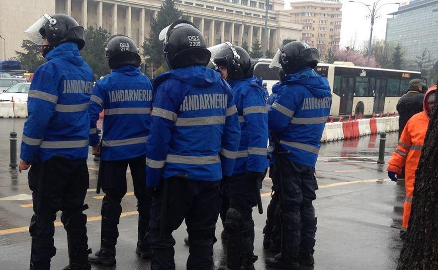 Jandarmi la protestul crescătorilor de animale, 23 martie 2016
