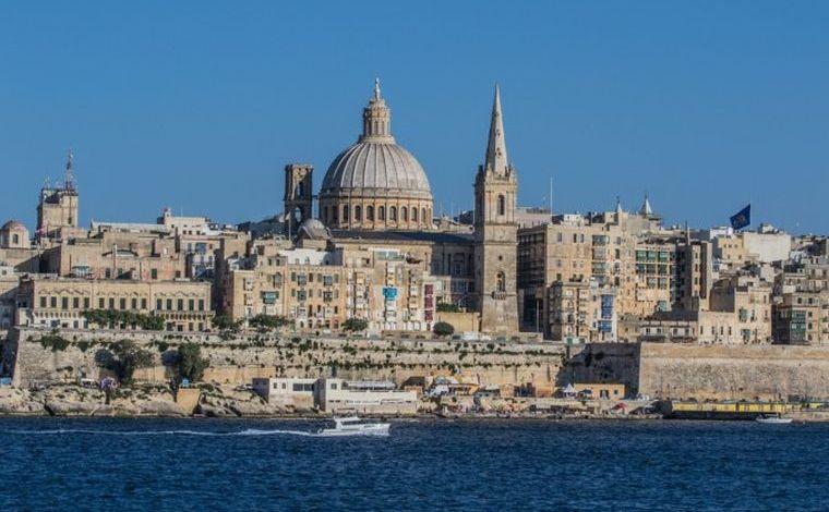 Oraşul Valletta, capitala Maltei.