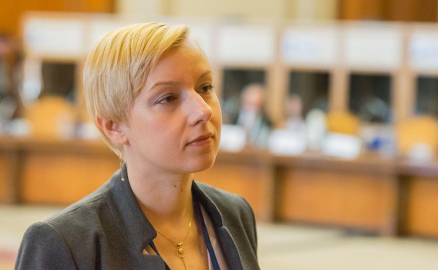 Dana Gîrbovan, şefa Uniunii Naţionale a Judecătorilor din România.