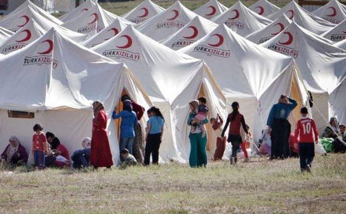 Tabără de refugiaţi sirieni în Turcia.
