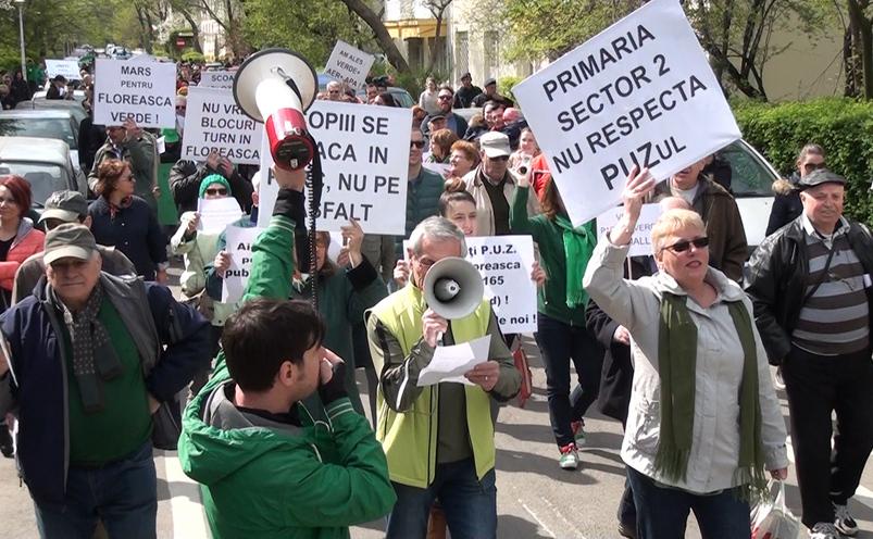 Marş în cartierul Floreasca, 2 aprilie 2016