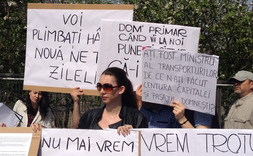 Protest în Prelungirea Ghencea, 9 aprilie 2016