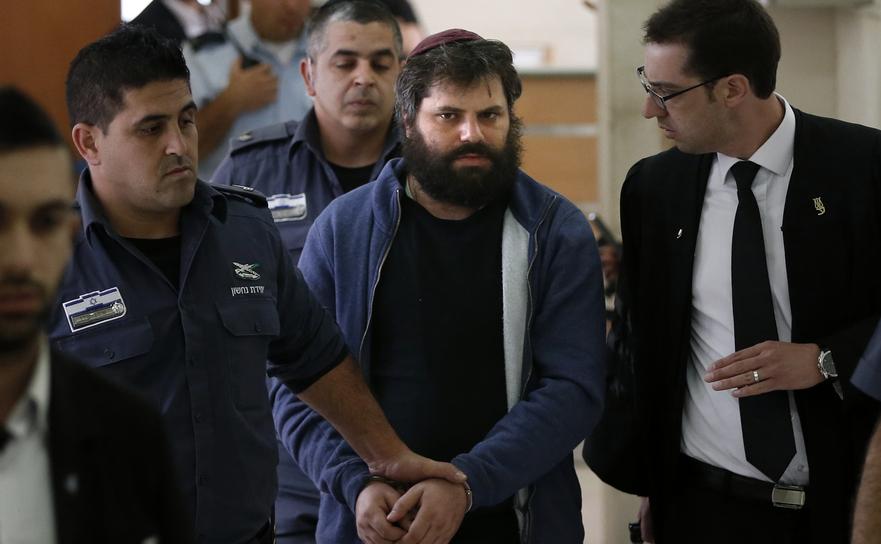 Israelianul Yosef Haim Ben-David, liderul unei bande care a ucis adolescentul palestinian Mohammed Abu Khdeir anul trecut - într-un tribunal din Ierusalim 19 aprilie 2016