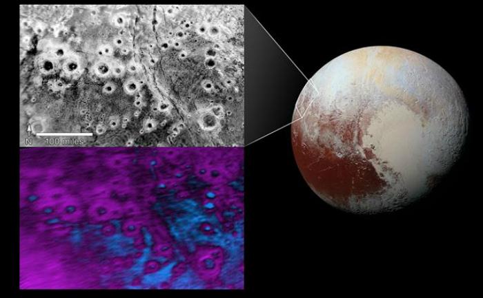 În interiorul regiunii numite informal Terra Vega de Pluto există un câmp de cratere luminoase, care arată ca o grămada de halouri împrăştiate într-un peisaj întunecat.