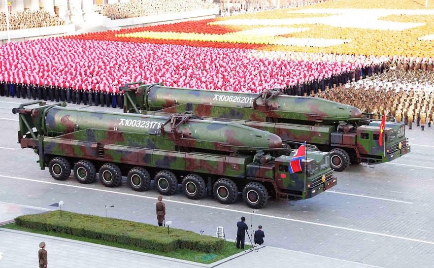 Paradă militară în Coreea de Nord.