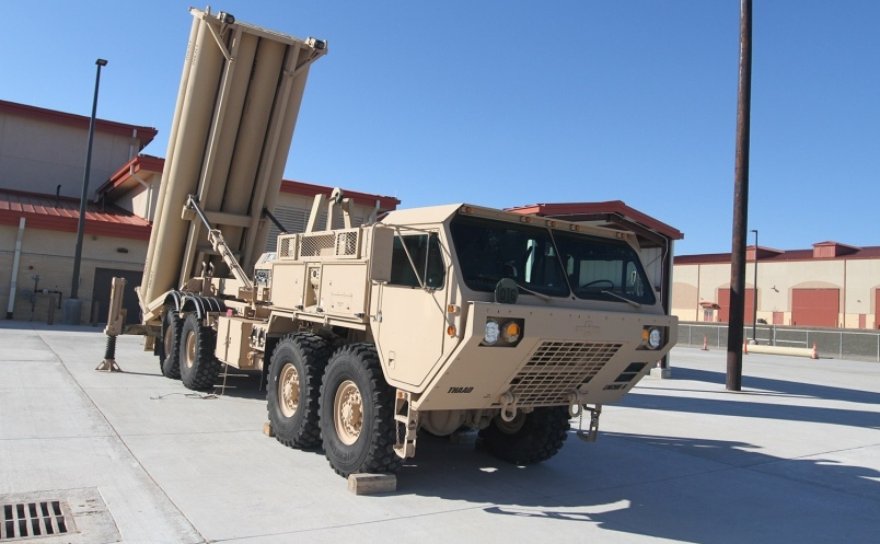 Lansator de rachete american THAAD în Fort Sill, Oklahoma, SUA.