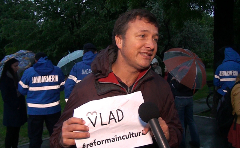 Manifestare de susţinere a lui Vlad Alexandrescu, 04 mai 2016.