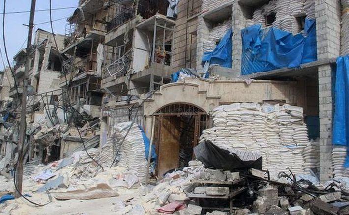 Oraşul sirian Alep.