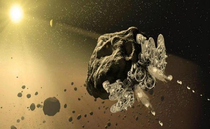 Motor spaţial pus pe un asteroid
