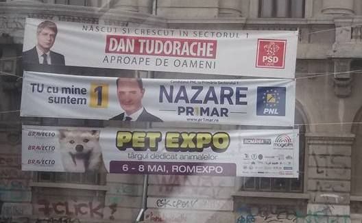 Bannere electorale de precampanie.