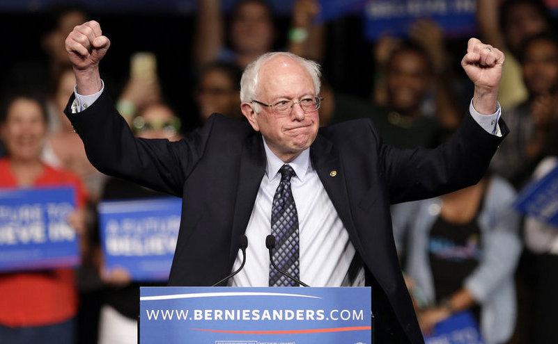 Candidatul prezidenţial american Bernie Sanders.