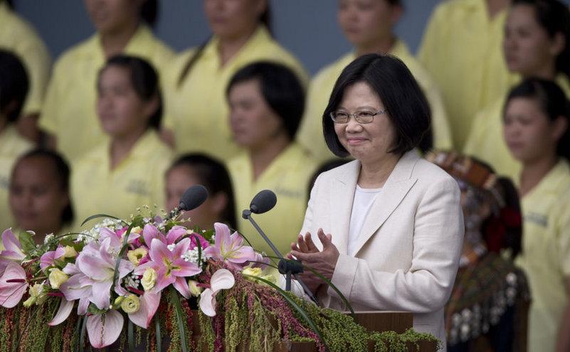 Preşedinta taiwaneză Tsai Ing-wen participă la ceremonia de inaugurare a mandatului ei în Taipei, 20 mai 2016.