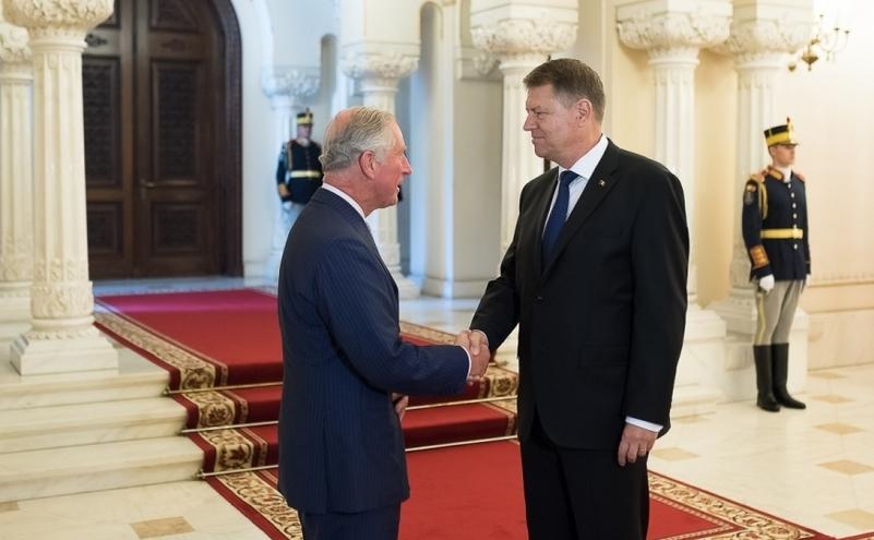 Preşedintele Klaus Iohannis şi prinţul Charles de Wales