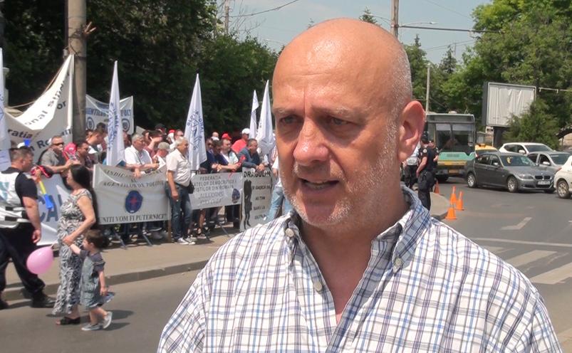 Protest BNS la Cotroceni, 30 mai 2016.