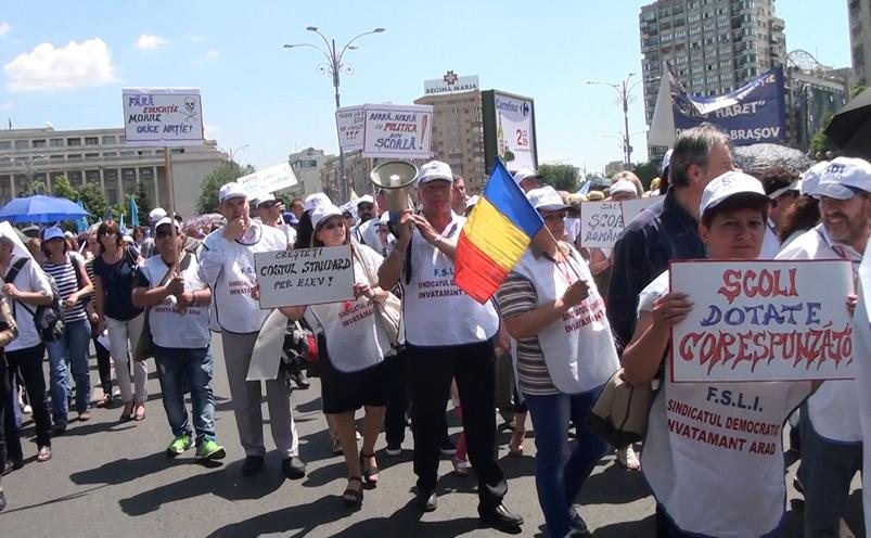 Protest al cadrelor didactice, 1 iunie 2016