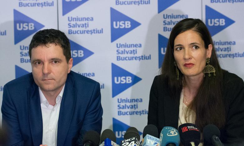 Clotilde Armand, Nicuşor Dan, conferinţă de presă 8 iunie 2016 la sediul USB