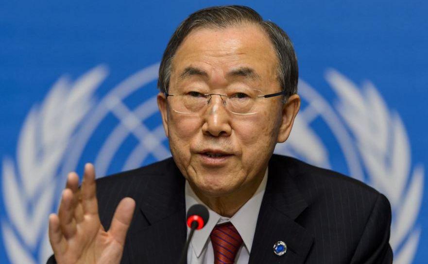 Secretarul general al ONU, Ban Ki-moon.