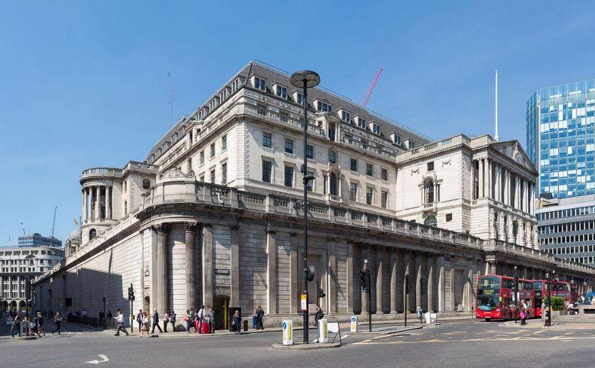 Sediul din Londra al Bank of England.