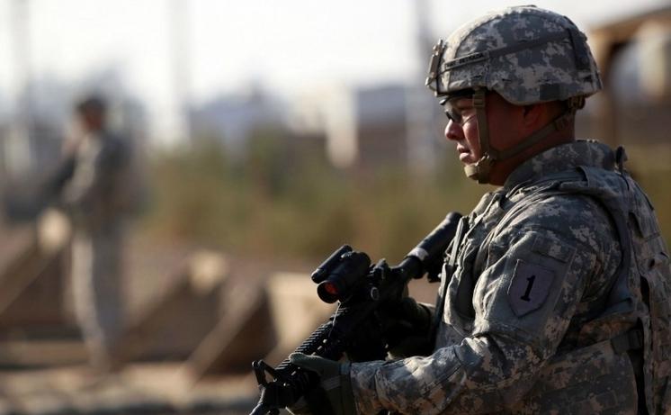 Soldat american în Irak.