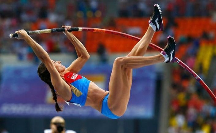 Atleta rusă Elena Isinbaieva.