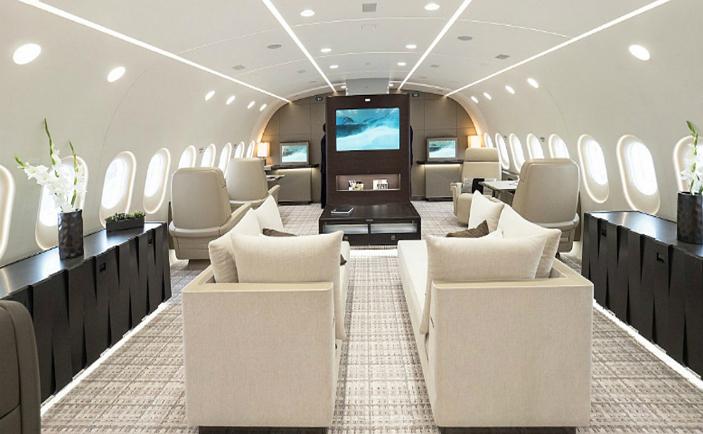 Interiorul unui Boeing Dreamliner BBJ 787-8 VIP