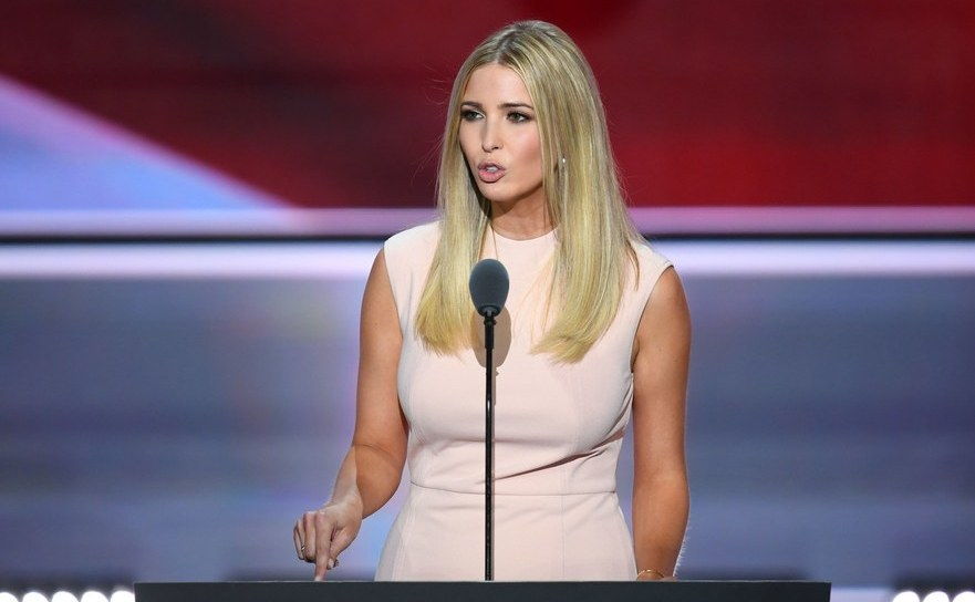 Fiica lui Donald Trump, Ivanka, la Convenţia Naţională Republicană din Cleveland, Ohio, 21 iulie 2016.