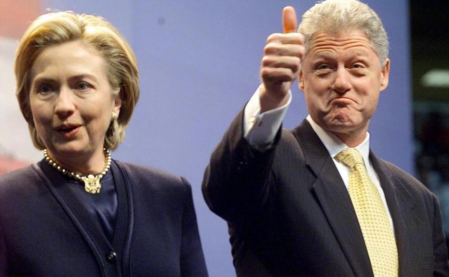 Bill şi Hillary Clinton.