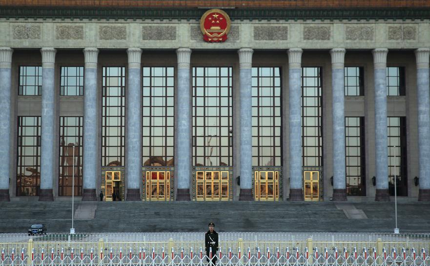 Beijing, Marea Sală a Poporului din China, locul unde se desfăşoară de obicei plenarele celui mai autoritar regim al lumii