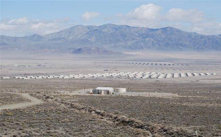Depozitul militar din Hawthorne, statul Nevada, SUA.