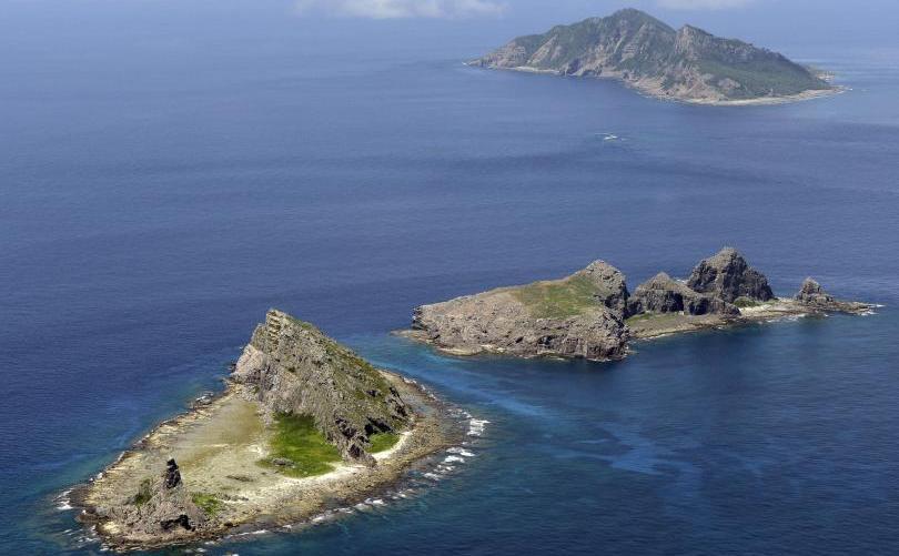 Insulele Senkaku din Marea Chinei de Est.