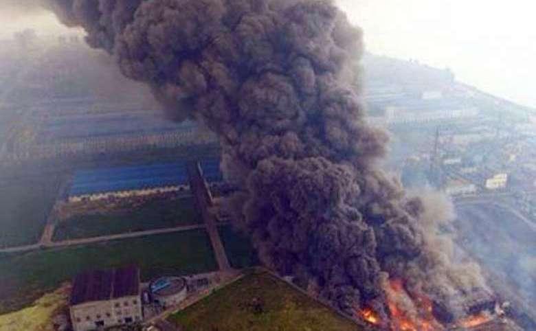 Explozie la o centrală electrică în Dangyang, provincia chineză Hubei, 11 august 2016.